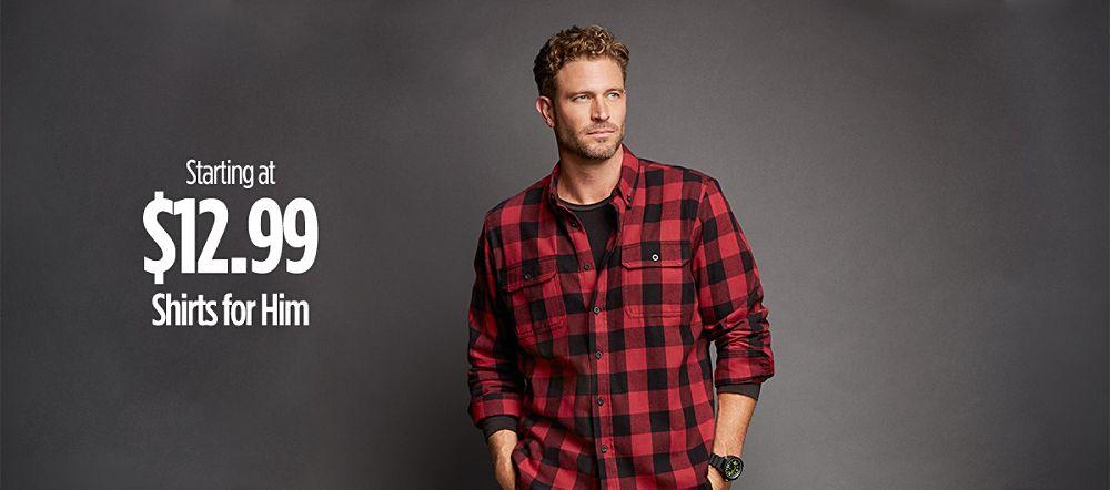 Men's Shirts Starting at $12.99