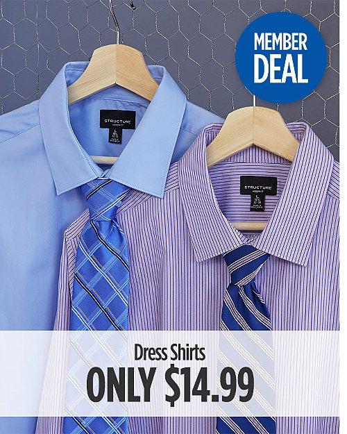 Member Deal! Dress Shirts Only $14.99