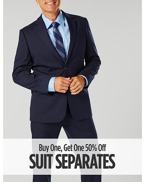 Buy One, Get One 50% Off Suit Separates