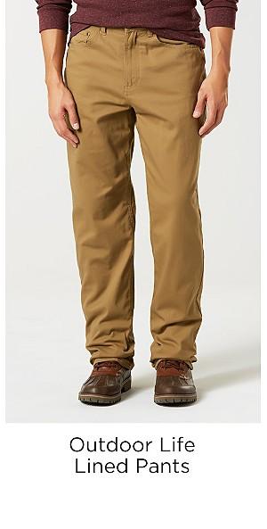 Outdoor Life Men's Lined Pants