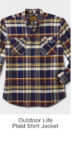 Outdoor Life Men's Plaid Shirt Jacket