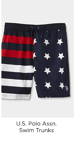 U.S. Polo Assn. Men's Swim Trunks - Stars & Stripes