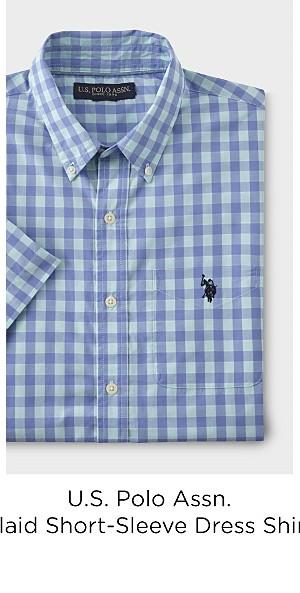 U.S. Polo Assn. Men's Short-Sleeve Dress Shirt - Plaid