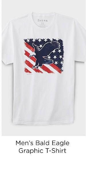 Men's Graphic T-Shirt - Bald Eagle