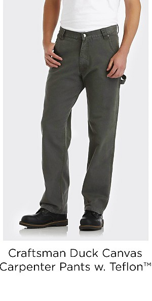 Craftsman Men's Duck Canvas Carpenter Pants with Teflon™