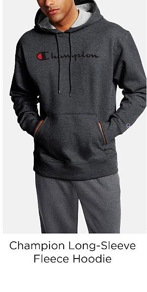 Champion Men's Long-Sleeve Fleece Hoodie