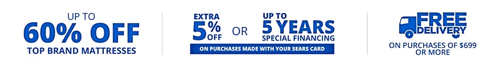 50-60% off top brand mattresses. Special financing. Free delivery