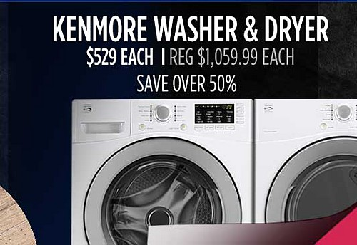 Kenmore front load washer & electric dryer $529 each