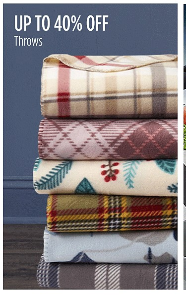 Up to 40% off throws