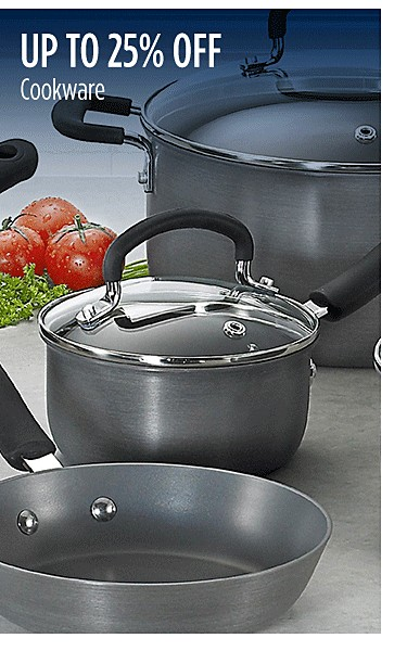 Up to 25% off cookware
