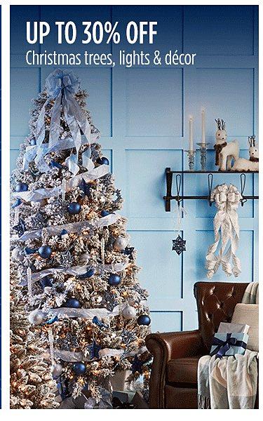 Up to 30% off Christmas decor