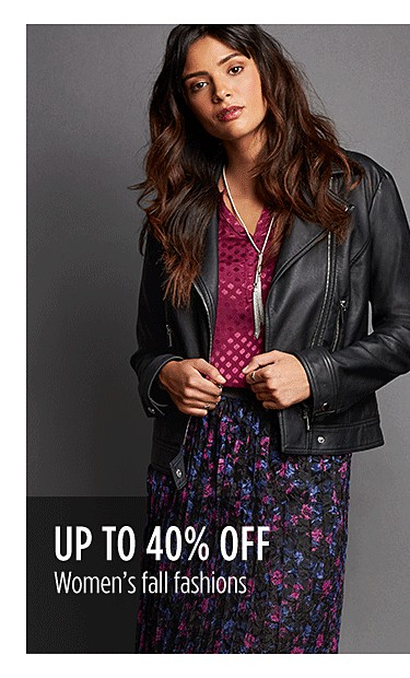 Up to 40% off women's fall fashions
