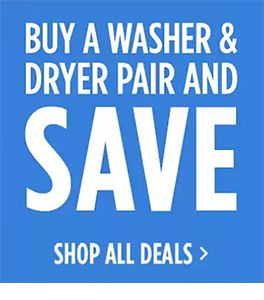 50% off reg price of a dryer w/ matching washer purchase