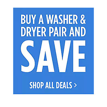 50% reg price of a Dryer w/ Washer purchase