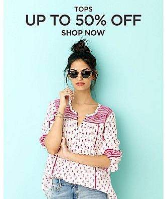 Tops up to 50% off
