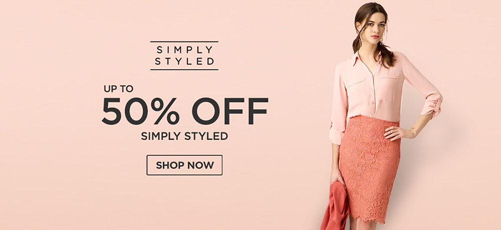 Up to 50% off Simply Styled
