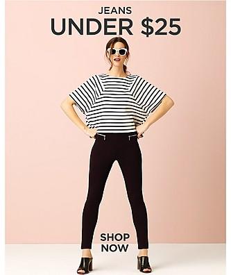 Jeans por menos de $25