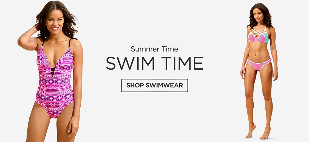 Summer Time, Swim Time. Shop Swimwear