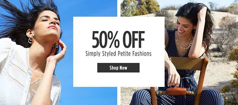 50% off Simply Styled Petite Fashions