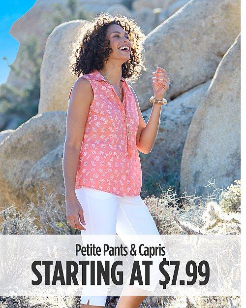 Petite Pants & Capris Starting at $7.99