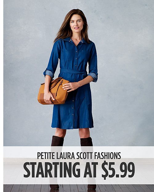 Petite Laura Scott Fashions for Her Starting at $5.99. Shop now