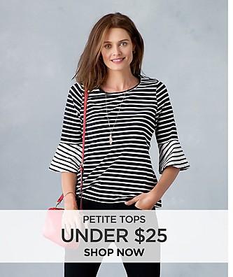 Women's Petite Tops Under $25