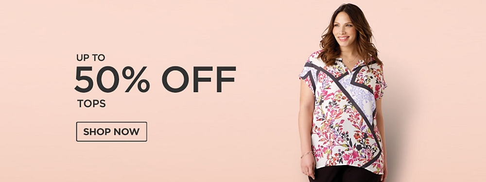 Up to 50% off Tops
