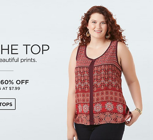Tops Up To 60% Off Starting At $7.99