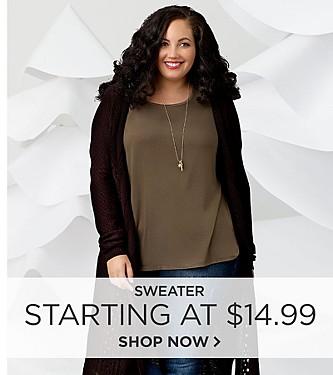 Women's Plus Sweaters