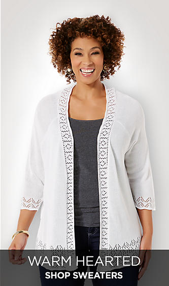 Plus Size Sweaters&#x3b; Cable Knit&#x3b; Laura Scott&#x3b;