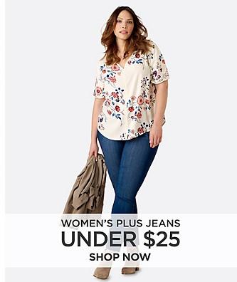 Women's Plus Jeans Under $25. Shop Now.