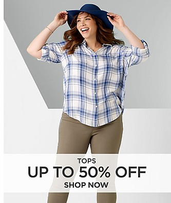 Tops save up to 50% off