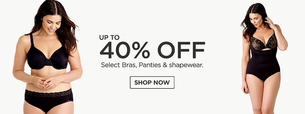 Up to 40% off select bras, panties & shapewear