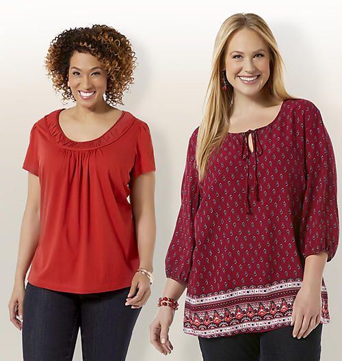 Women's Plus Tops