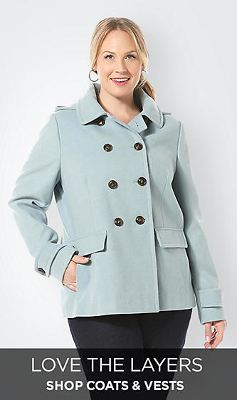 Plus Sized Coats & Vests for Women Jackets Vests Outerwear