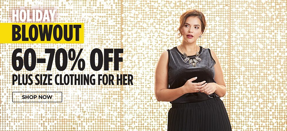 60-70% Off Plus Size Clothing for Her. Shop now