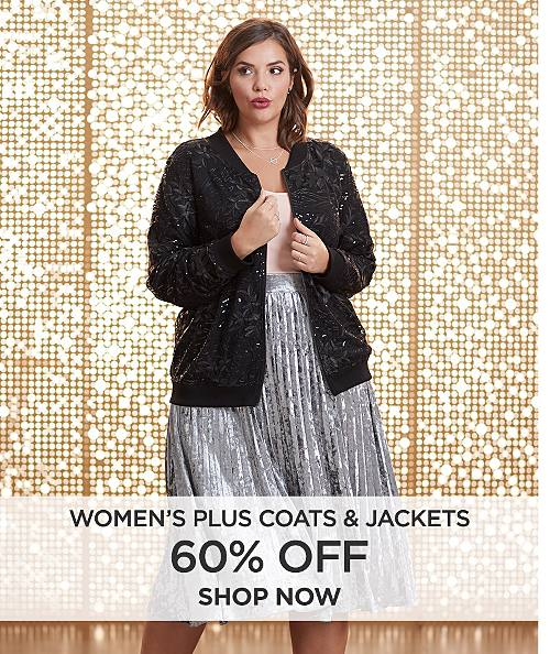 60% off women's plus coats & jackets. Shop now