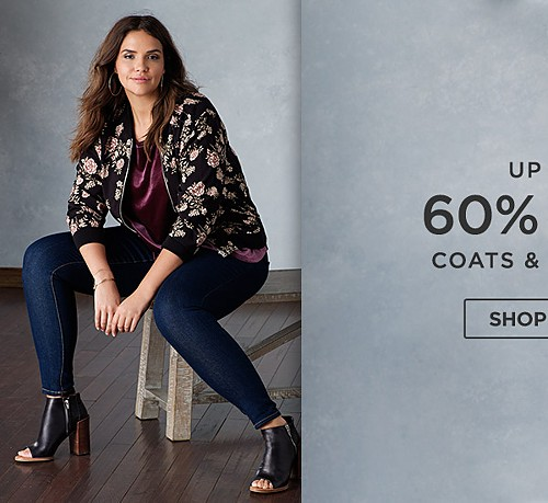 Up to 60% off coats & jackets