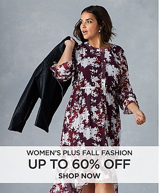 Up to 60% off Women's Plus Fall Fashion