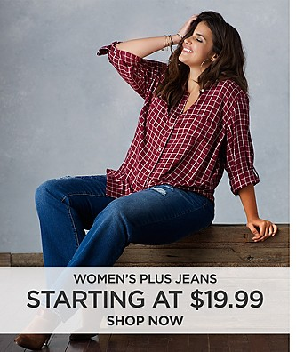 Women's Plus Jeans starting at $19.99