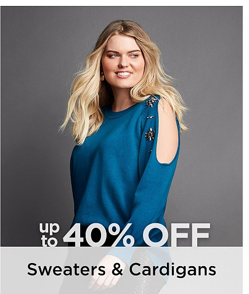 Up to 40% Off Plus Size Sweaters & Cardigans