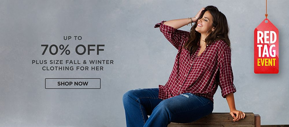 Up to 70% Off Plus Size Fall & Winter Fashions for Her. Shop now