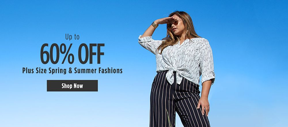 Up to 60% Off Spring & Summer Plus Size Apparel