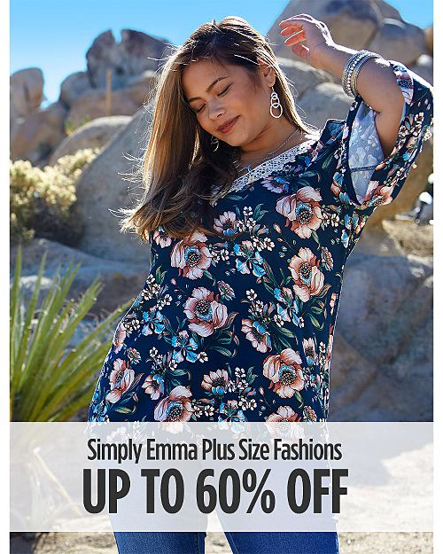 Up to 60% off Simply Emma Plus Size Fashions