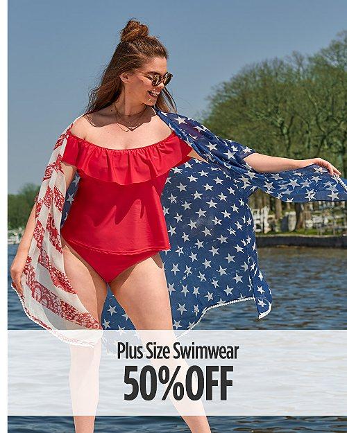 50% off plus size swimwear