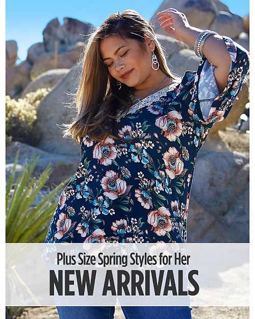 New Arrivals! Plus Size Spring Styles for Her! Shop now
