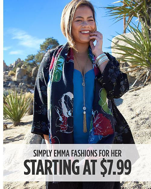 Simply Emma Fashions for Her Starting at $7.99. Shop Now