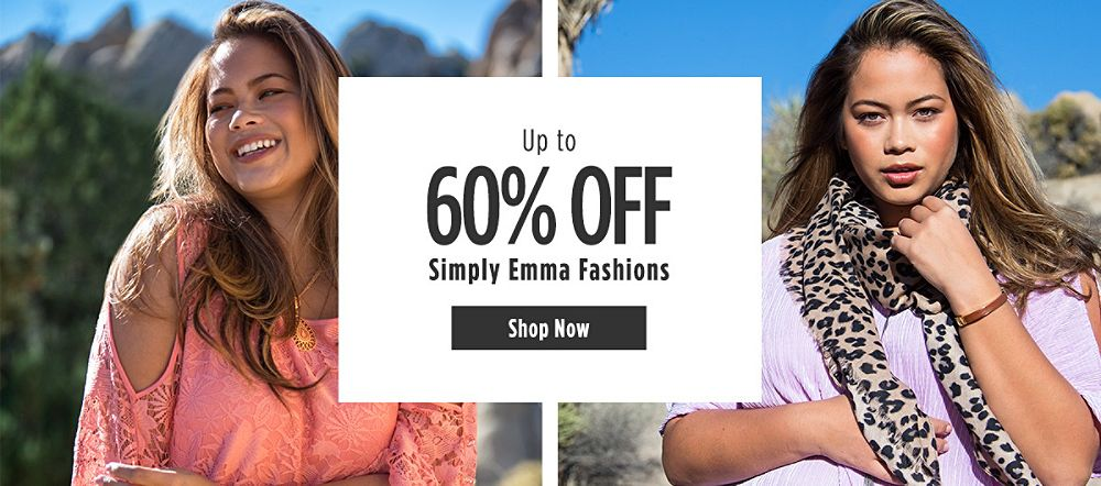Up to 60% off Simply Emma Fashions