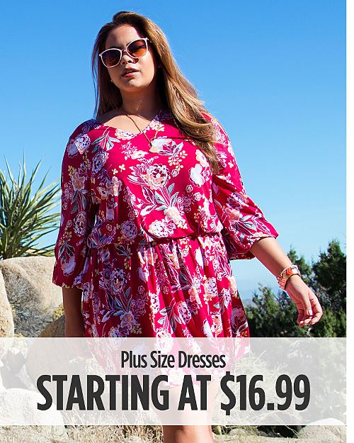 Plus Size Dresses Starting at $16.99