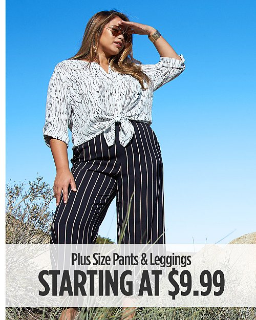 Plus Size Pants & Leggings Starting at $9.99